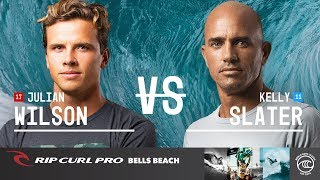 Julian Wilson vs. Kelly Slater - Round of 32, Heat 1 - Rip Curl Pro Bells Beach 2019 thumbnail