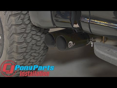 "F-150 Raptor aFe Cat-Back Exhaust 3"" SS Rebel Dual Side Exit With Black Tips 2017 Installation"