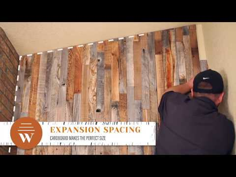 DIY Wood Wall - Super Easy Wood Accent Wall Idea (Dyi Wood Plank Wall)