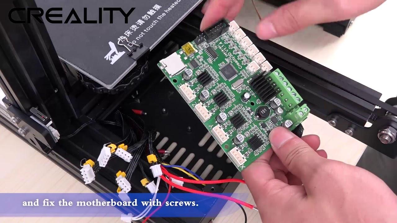 Creality 3d New Upgrade Silent 1 1 4 Mainboard Installation Youtube