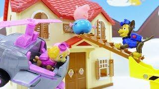Щенячий патруль онлайн - Пеппа игрушки - Приключения на крыше