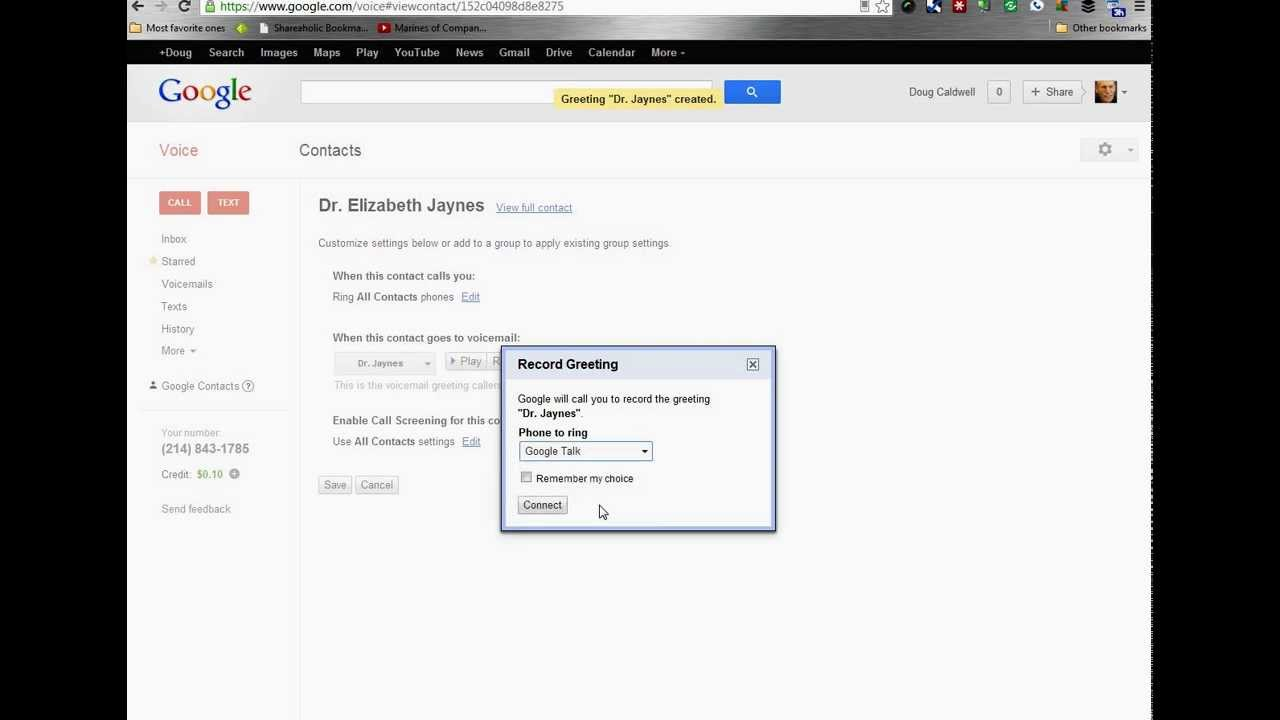 How to create personal greeting in google voice apr 2013 youtube how to create personal greeting in google voice apr 2013 m4hsunfo