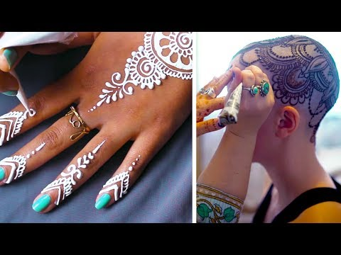 THESE HENNA ARTISTS CREATE DELICATE DESIGNS ON ALL PARTS OF THE BODY