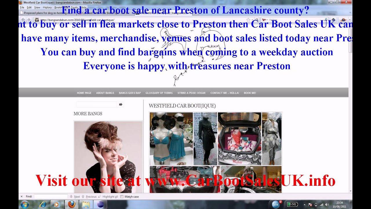 Car Boot Sales Preston Flea Market Sites Lancashire