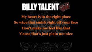 Billy Talent - Line And Sinker lyrics