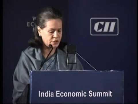 India Economic Summit 2006 - Sonia Gandhi