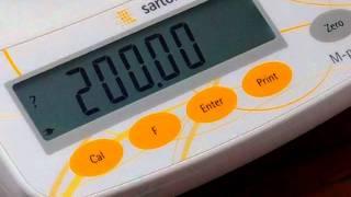 Calibration procedure for digital balance