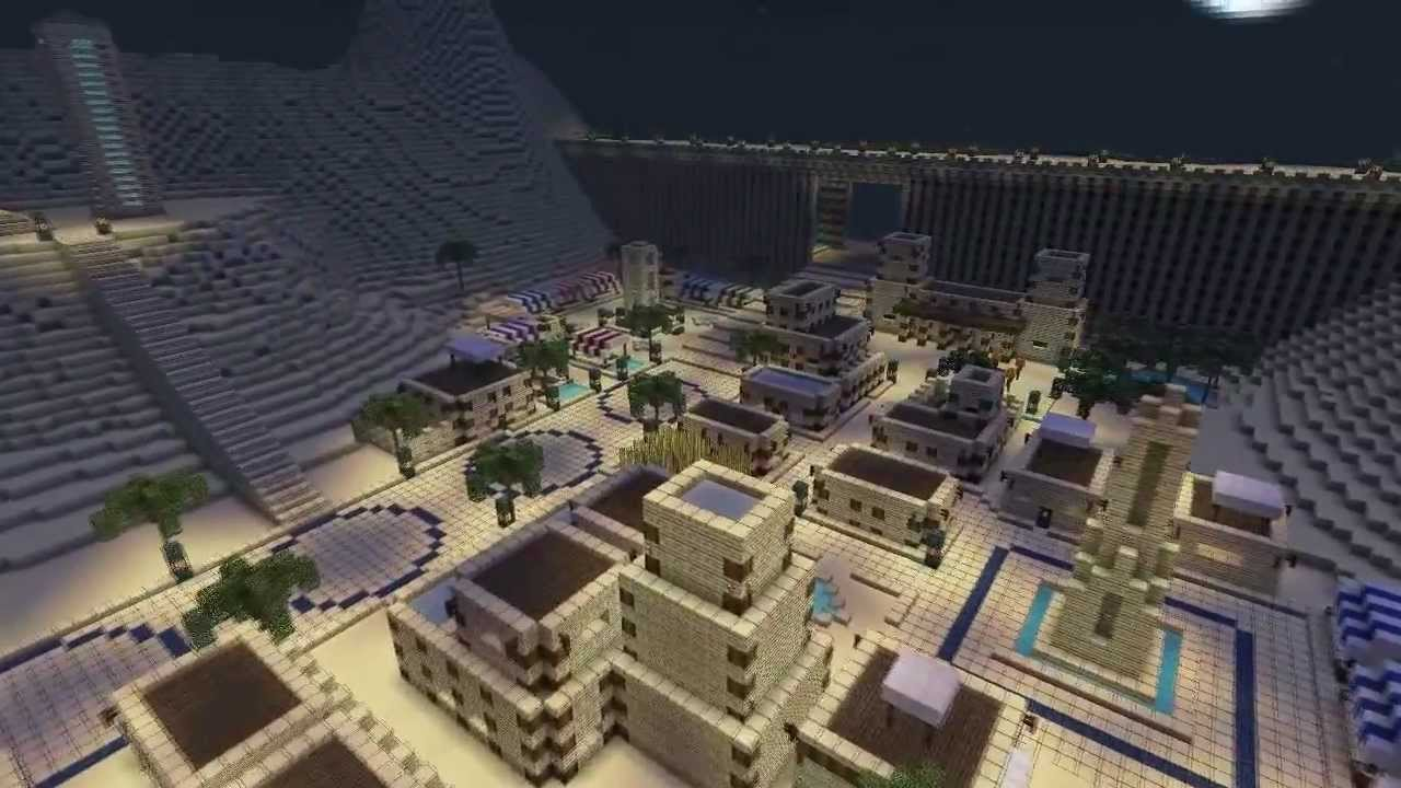 TIMELAPSE Epic Desert City DOWNLOAD LINK Minecraft