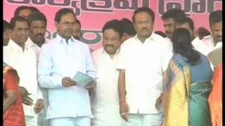 Telangana CM KCR Inauguration Aasra Pension Scheme