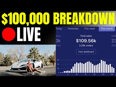 How To Build A $100,000+ Shopify Store By December 2019 (LIVE) thumbnail