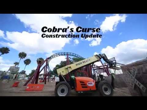 Repeat cobra 39 s curse construction update busch gardens tampa bay by busch gardens tampa bay for Busch gardens tampa bay cobra s curse