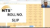 How to download roll no slip from nts website - YouTube