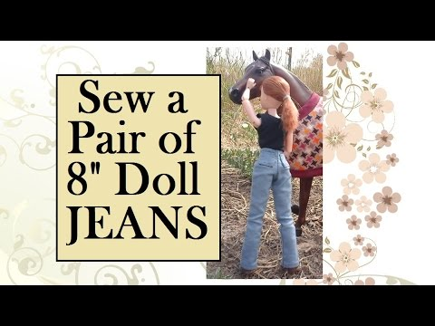 8 Inch Doll Clothes Patterns Free Plus Tutorial For Making Jeans
