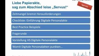 Digitale Personalakte - Einführung, Nutzen & Checkliste (Webinar)