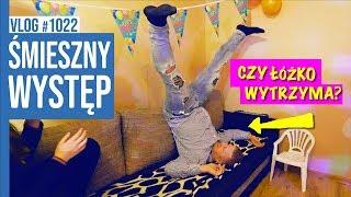 ŚMIESZNY WYSTĘP - Czy łóżko wytrzyma? / VLOG #1022