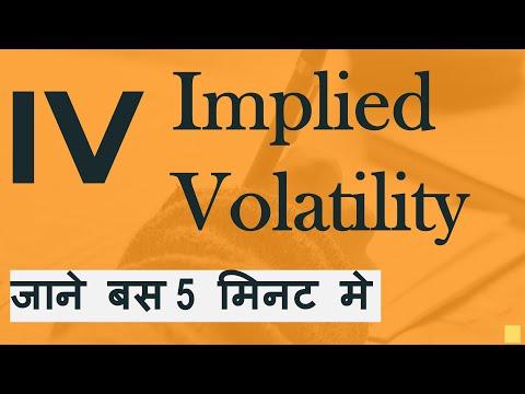 IMPLIED VOLATILITY BASIC IN HINDI