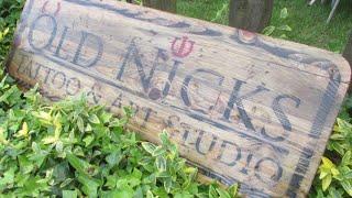 Diresta Inspired Rustic Pallet Wood Tattoo Shop Sign.............. DSNERV
