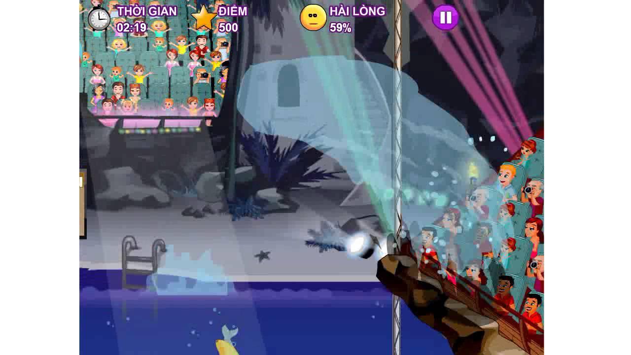 Hướng dẫn chơi game Xiếc cá Heo vui nhộn – Game 24H