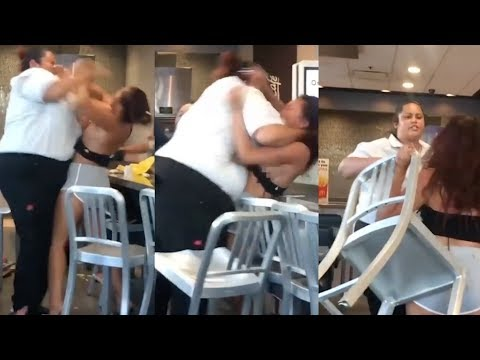 McDonald's employee, customer get into brutal fight over soda
