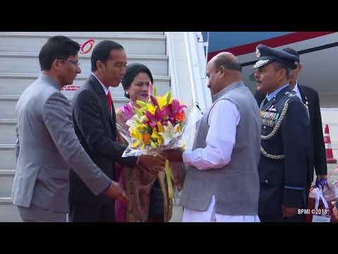 Kedatangan Presiden RI dan Rombongan di Republik India dalam rangka Kunjungan Kerja