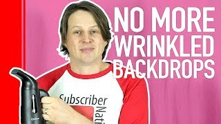 How to remove wrinkles from backdrops