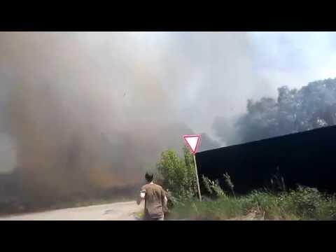 Пожар в Захлебном (Новая Усмань)