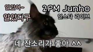 [한글자막] 응~ 네 잔소리가 좋아,  2PM 준호 제대 D-365 기념 인스타라이브