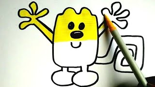 How To Draw | Coloring Cartoon Character Episode | Wubbzy From Wow Wow Wubbzy | Colours for kids