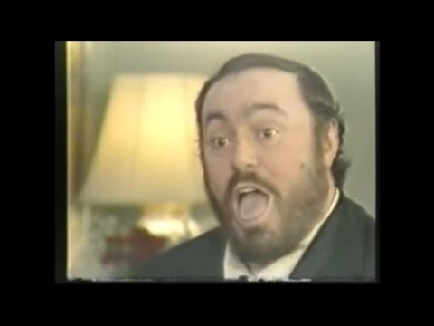 Pavarotti gives a singing lesson
