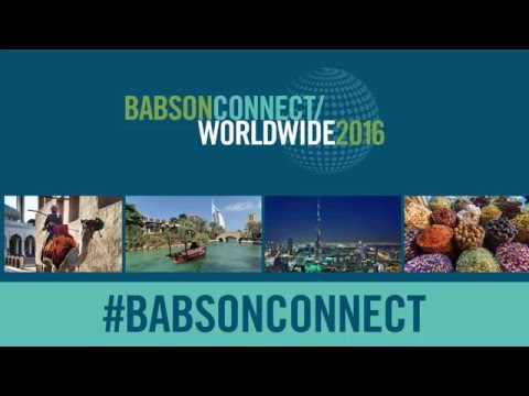 Opening Babson Connect: Worldwide 2016 Welcome Remarks