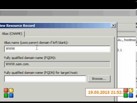 HOW TO CREATE ALIAS RECO  FOR THE HOST RECOR  In Windows Server 2008