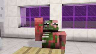 Monster School SLENDRINA GRANDPA VS BALDI CHALLENGE Minecraft Animation