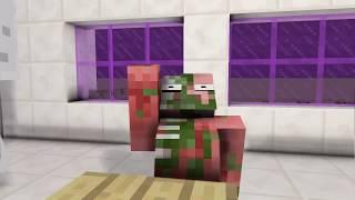 Monster School : SLENDRINA & GRANDPA VS BALDI CHALLENGE - Minecraft Animation