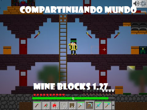 Mine Blocks 1.27 Compartilhando Mundo