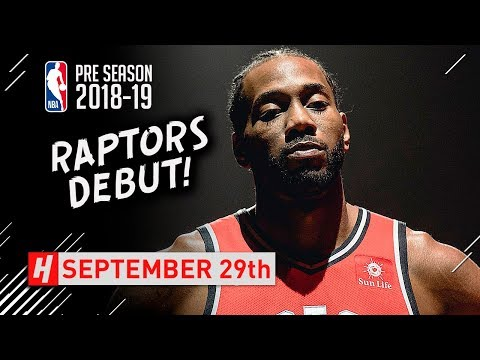 Kawhi Leonard Full RAPTORS DEBUT Highlights vs Trail Blazers 2018.09.29 - 12 Pts, HE'S BACK!