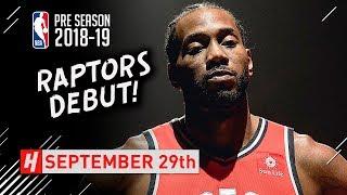 Kawhi Leonard Full RAPTORS DEBUT Highlights vs Trail Blazers 2018.09.29 - 12 Pts, HE'S BACK!