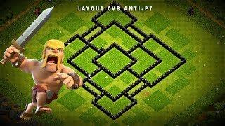 Layout de guerra ANTI PT CV8 - Clash of Clans -