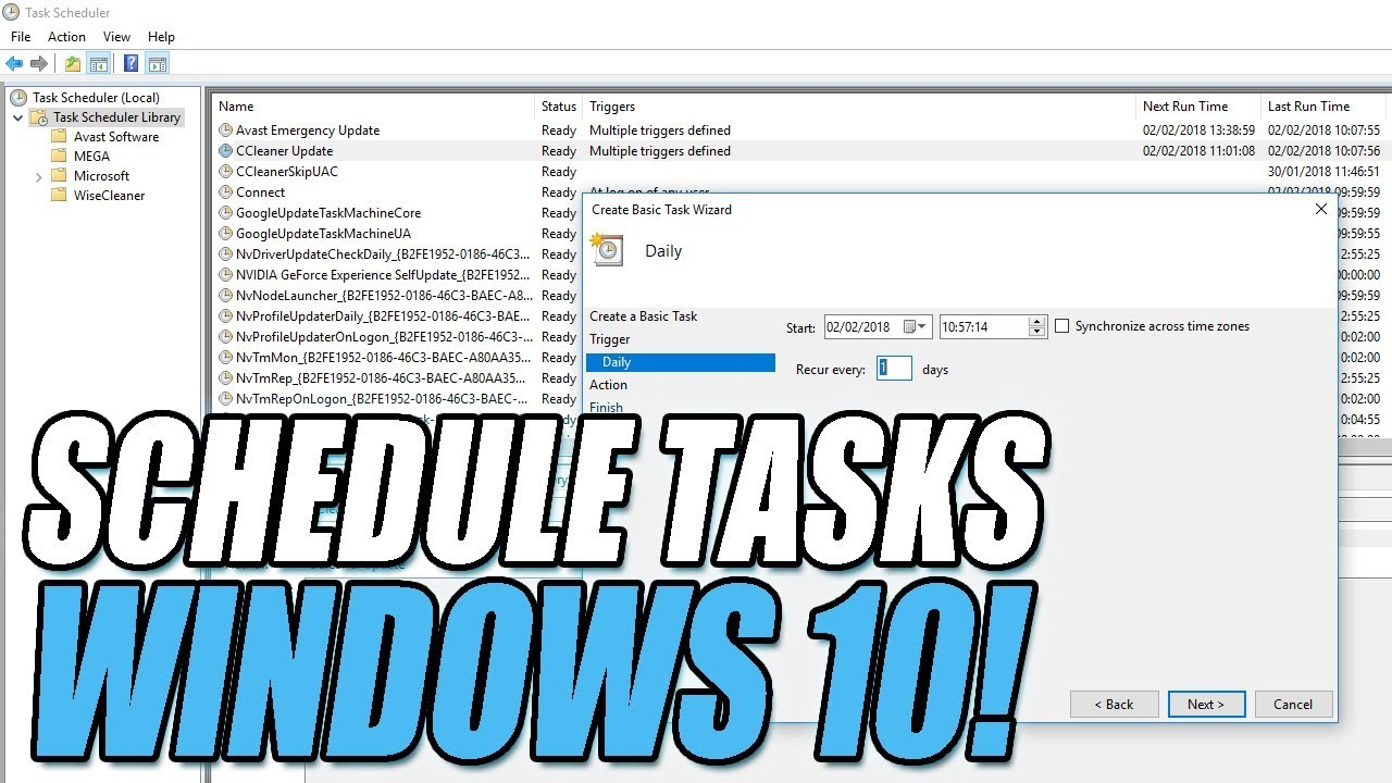 How To Use Task Scheduler On Windows10 | Auto Start Programs or Scripts