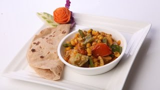 Capsicum Lauki And Chana Dal Curry