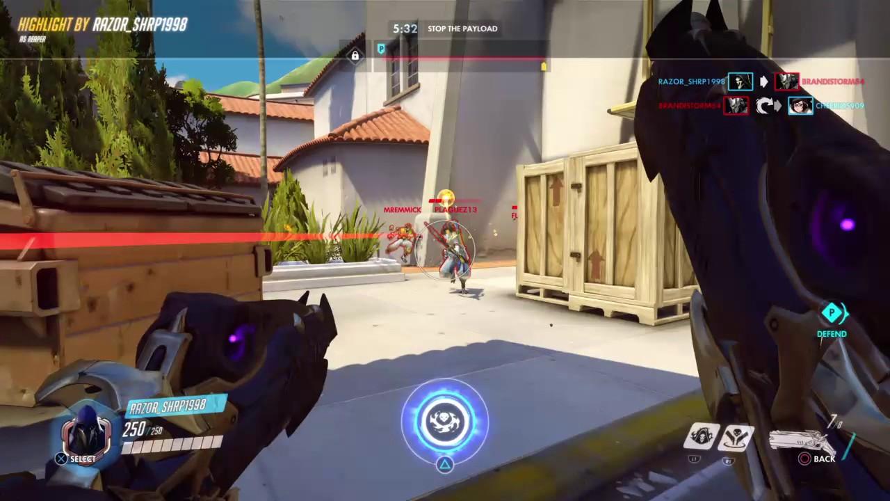 Overwatch - Reinhardt - 19 Eliminations 8 Charge Kills
