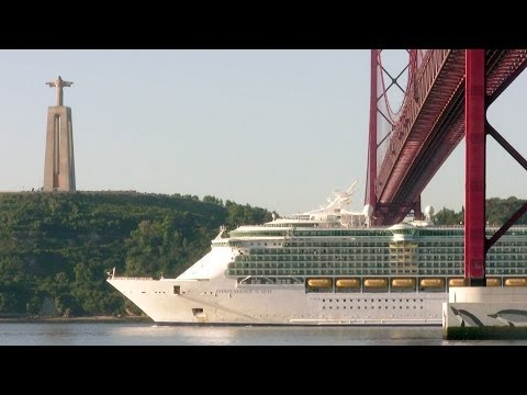 Royal Caribbean's Independence of the Seas cruise ship in Lisbon