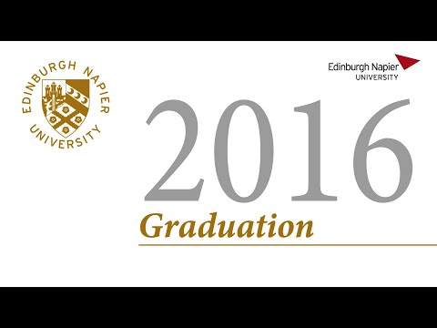 Edinburgh Napier Graduation Ceremony 26 October 2016