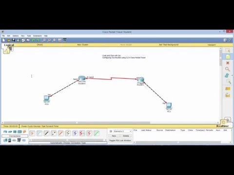 Configuring Two Routers CLI in Cisco Packet Tracer