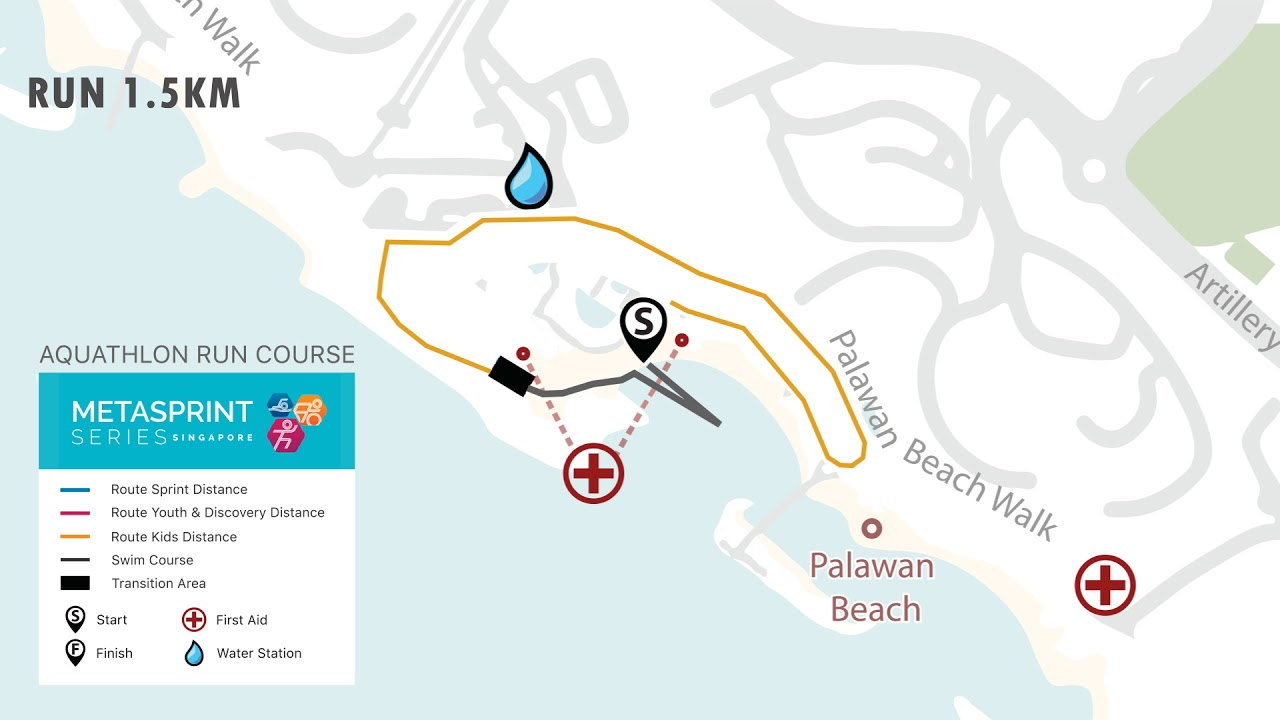 MetaSprint Aquathlon 2018 - Kids distance Course Map on honey bee map, georgia map, strange map,