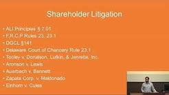 Corporations II: Directors' Duties to Shareholders;  Securities Markets & Securities Fraud