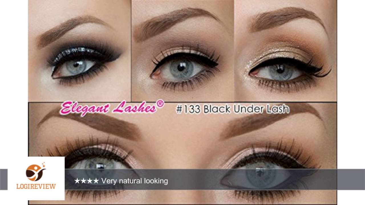 Elegant lashes 133 black 100 human hair false under eyelashes elegant lashes 133 black 100 human hair false under eyelashes for lowerbottom lashes pmusecretfo Image collections