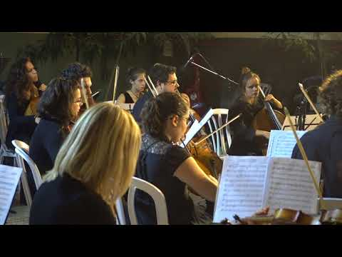 20171108 2234 string concert at the inner space of Clal office building at Jerusalem