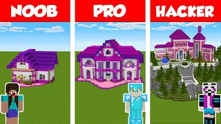 Minecraft NOOB vs PRO vs HACKER: GIRL HOUSE BUILD CHALLENGE in Minecraft / Animation