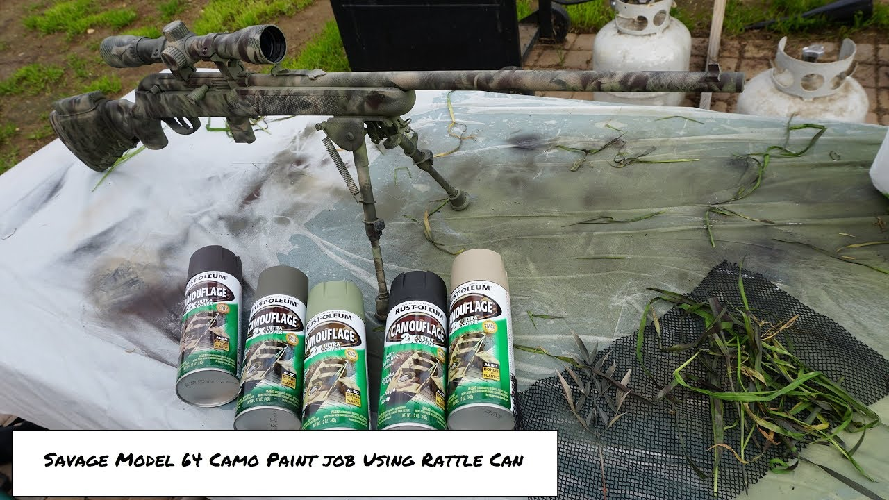 Savage Model 64 FXP Camo Paint Job