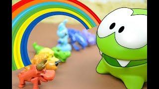 Игровое обучение с Ам Нямом - Мультик развивающий детскую память  - Загадки для детей